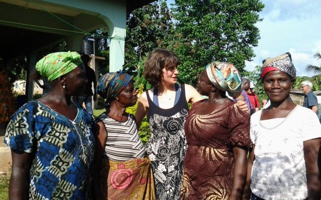 Some beautiful women cocoa farmers